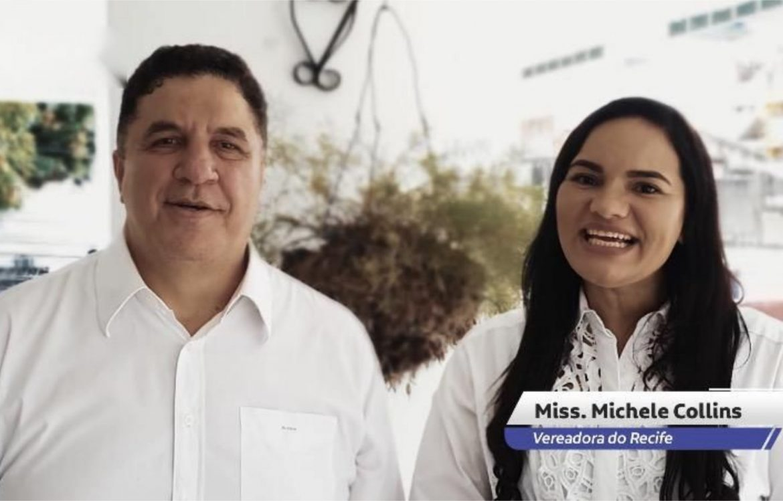 Michele Collins inicia campanha para terceiro mandato como vereadora do Recife