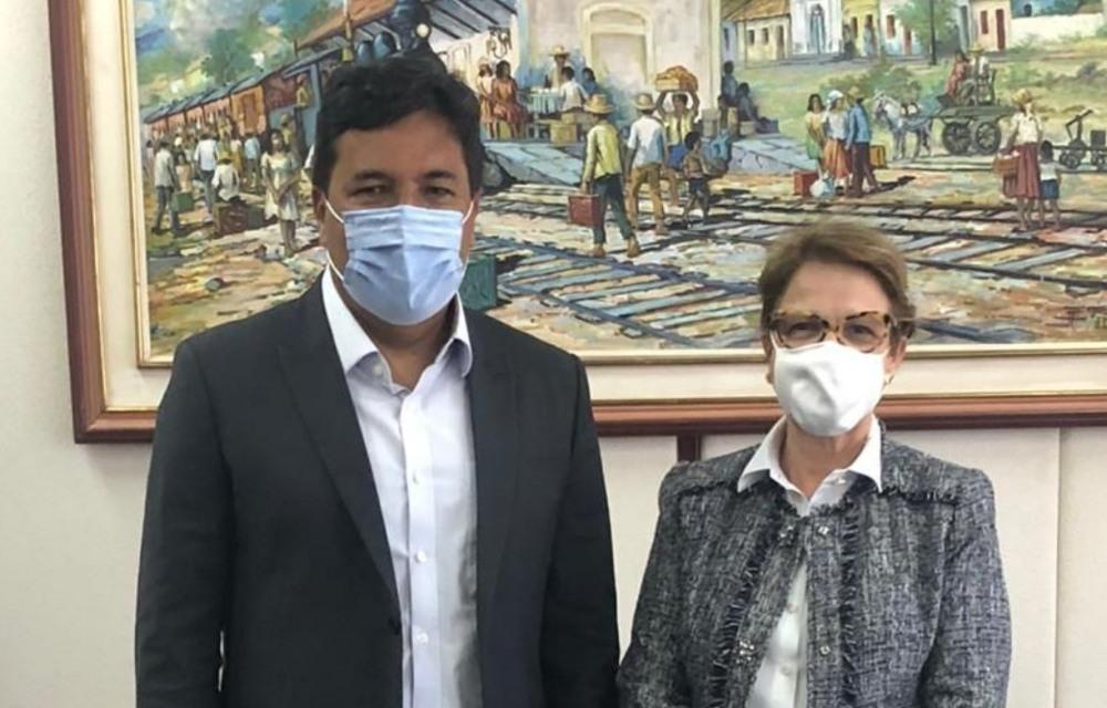 Mendonça debate com ministra da Agricultura sobre investimentos em Pernambuco