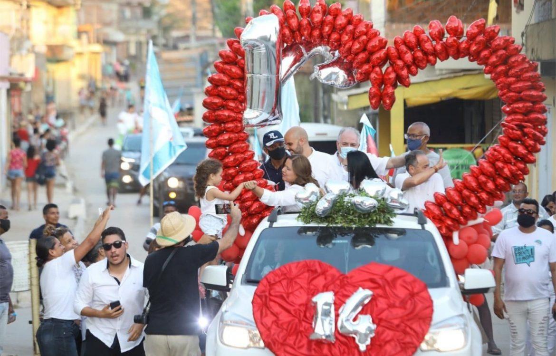 Em Ipojuca, Célia Sales realiza carreata no distrito de Camela