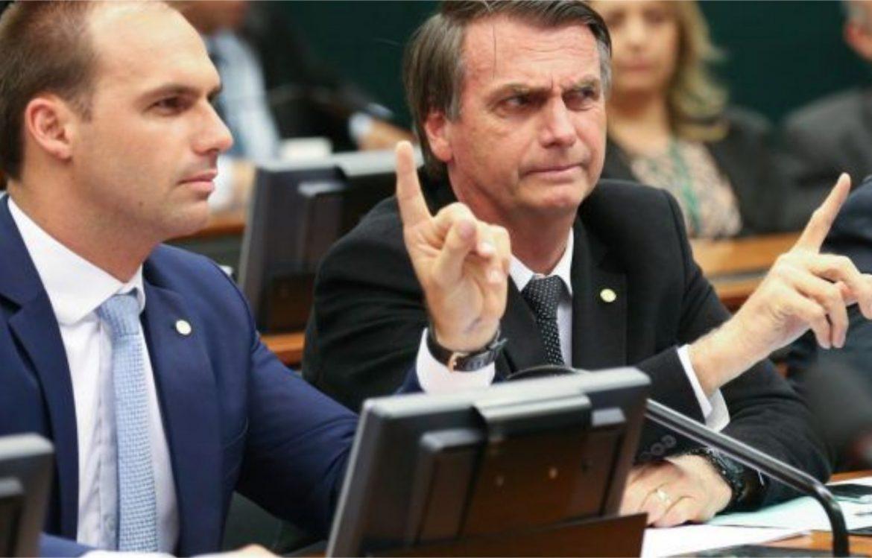 Eduardo Bolsonaro pede para não votarem em candidato indicado por Geraldo Julio