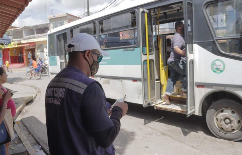 Transportes públicos do Ipojuca passa por fiscalização contra a Covid-19