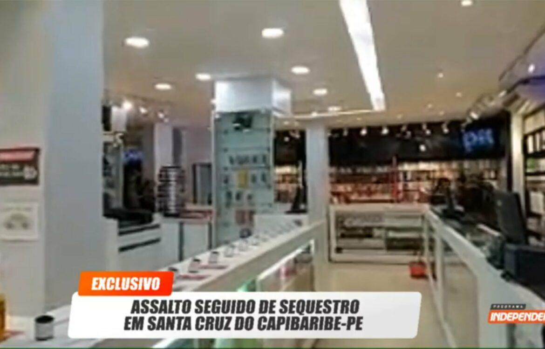 Vídeo: assalto seguido sequestro é transmitido ao vivo em Santa Cruz do Capibaribe
