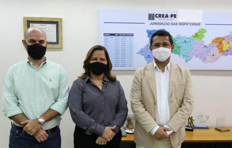 Prefeita do Ipojuca e presidente do Crea-PE firmam parceira em projetos ligados à engenharia