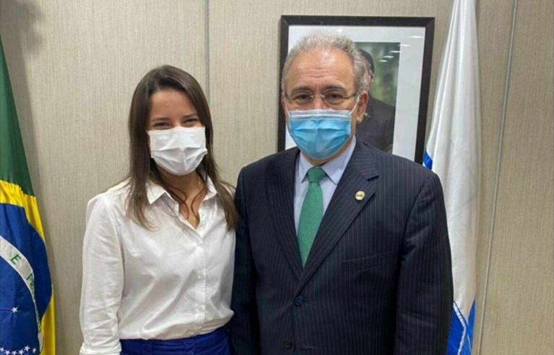 Raquel Lyra segue em Brasília conversando com ministérios