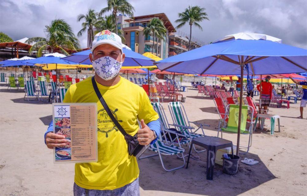 Comércio de praia é retomado em Ipojuca com fiscalização da Prefeitura