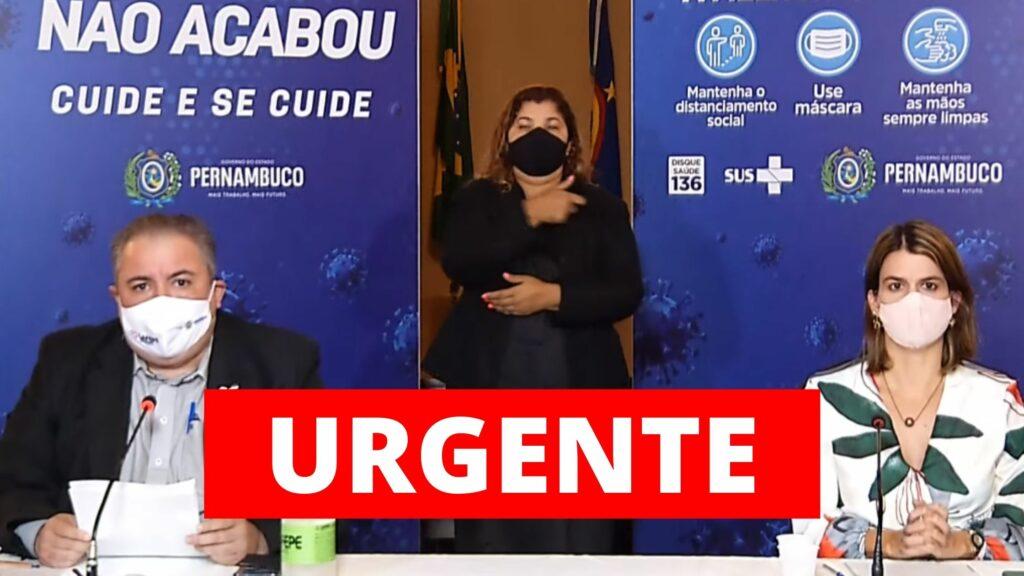 Pernambuco autoriza vacinação de todas pessoas a partir de 50 anos