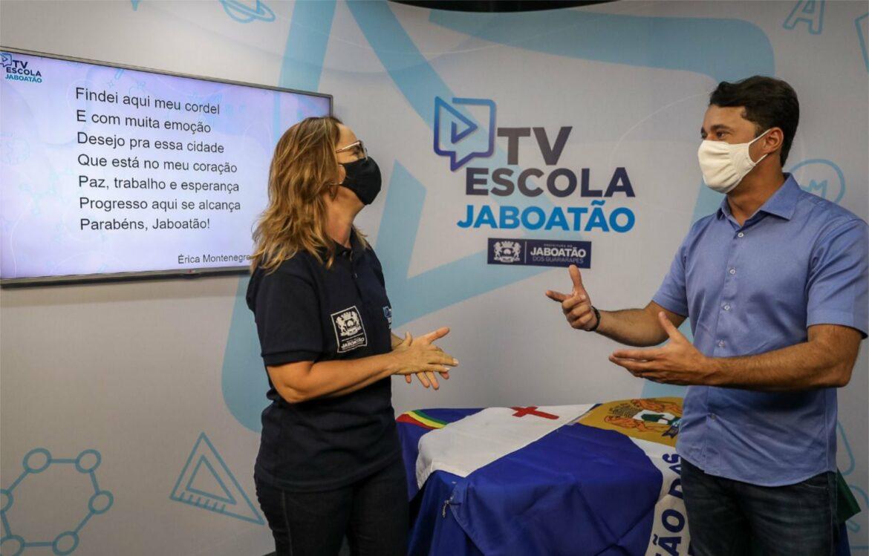 Anderson Ferreira lança TV Escola em comemoração ao aniversário do Jaboatão