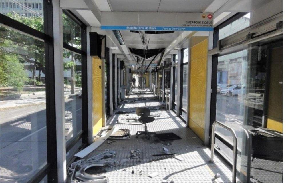 Ministério Público de Contas pede investigação sobre depredação nos BRTs