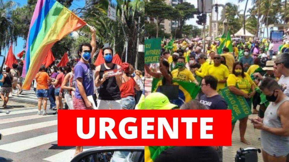 MPPE recomenda cancelamento de atos pró e contra Bolsonaro em Pernambuco