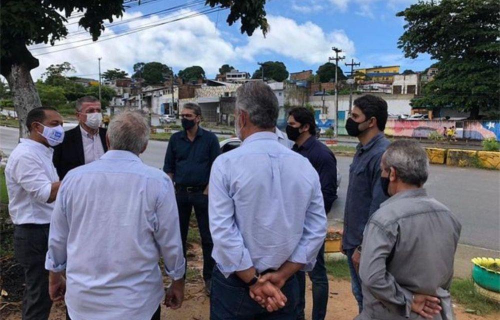 Em Olinda, Lupércio realiza vistoria na PE-15 com presidente do DER