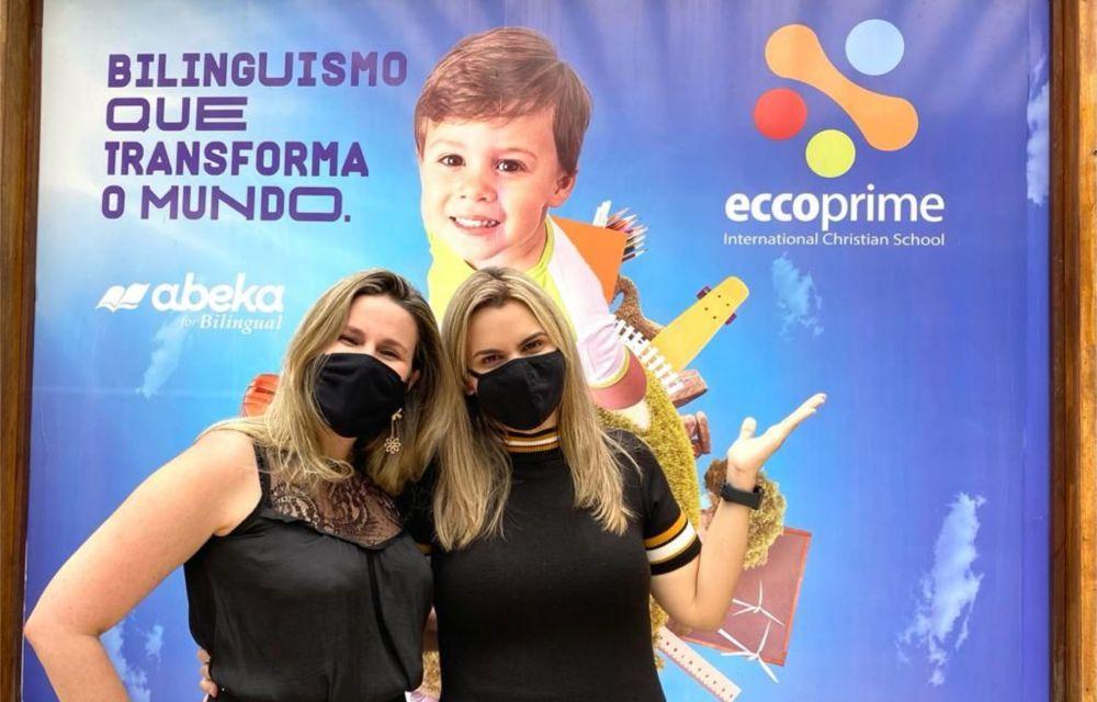Clarissa Tércio vai à Eccoprime e declara apoio à postura conservadora da escola