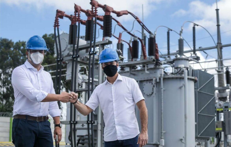Anderson Ferreira e presidente da Celpe participam da inauguração da subestação UR-11